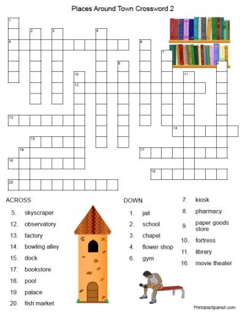 Free Printable Spanish Crossword Puzzles From Printablespanish - Printable Spanish Crossword Puzzle