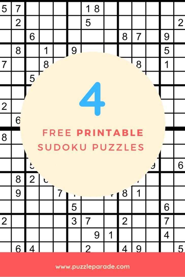 Free Printable Sudoku Puzzles Pdf | Free Printables - Printable Sudoku Puzzles 16X16 Free