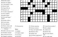Free Printable Sunday Crossword Puzzles   Free Printables – Frank A Longo Printable Crossword Puzzles