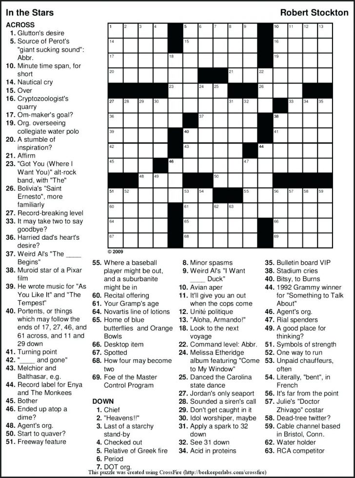 Free Printable Crossword Puzzle Grids