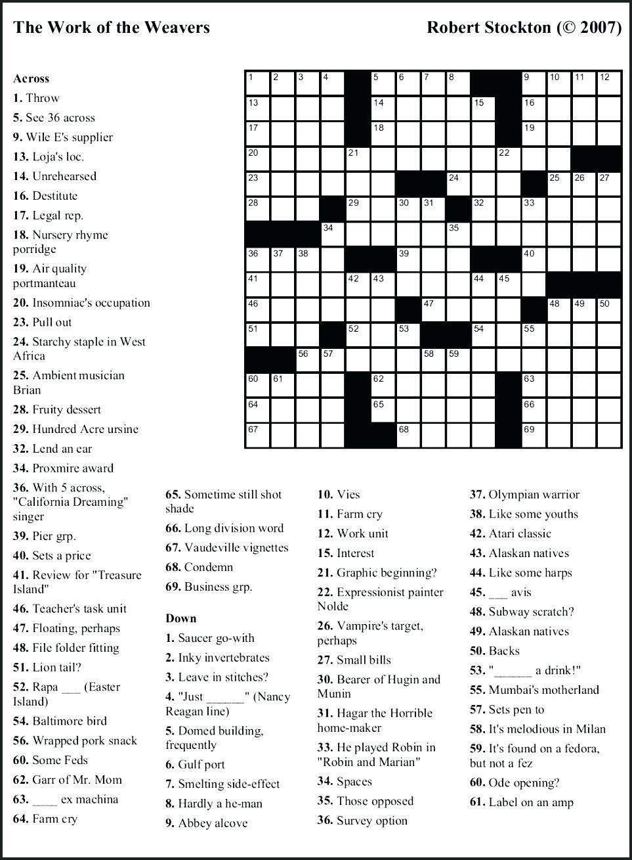 Free Printable Themed Crossword Puzzles – Myheartbeats.club - Free Printable Themed Crossword Puzzles Halloween