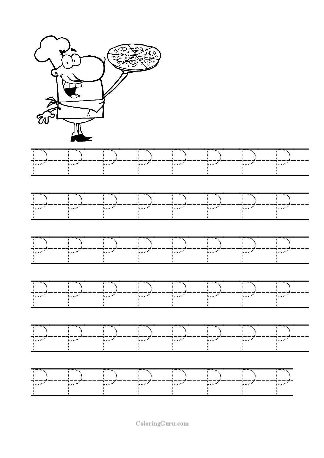 Free Printable Tracing Letter P Worksheets For Preschool | Tracing - Letter P Puzzle Printable
