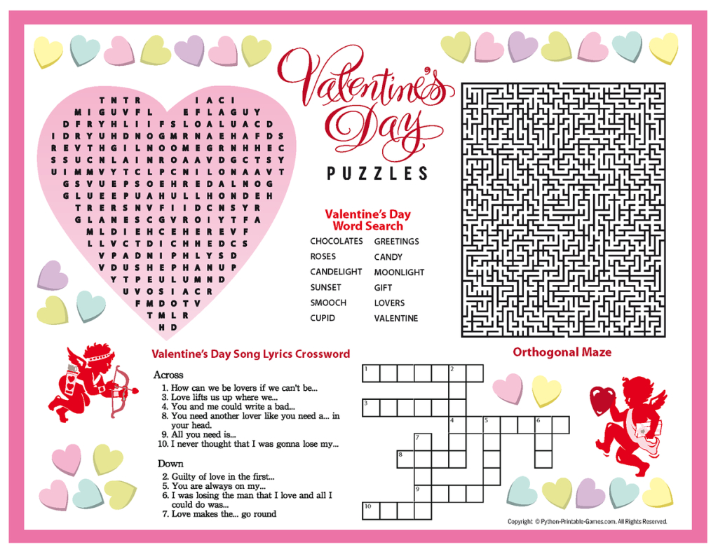Free Printable Valentine's Day Puzzles | School Stuff | Valentines - Free Printable Valentine Puzzles For Adults