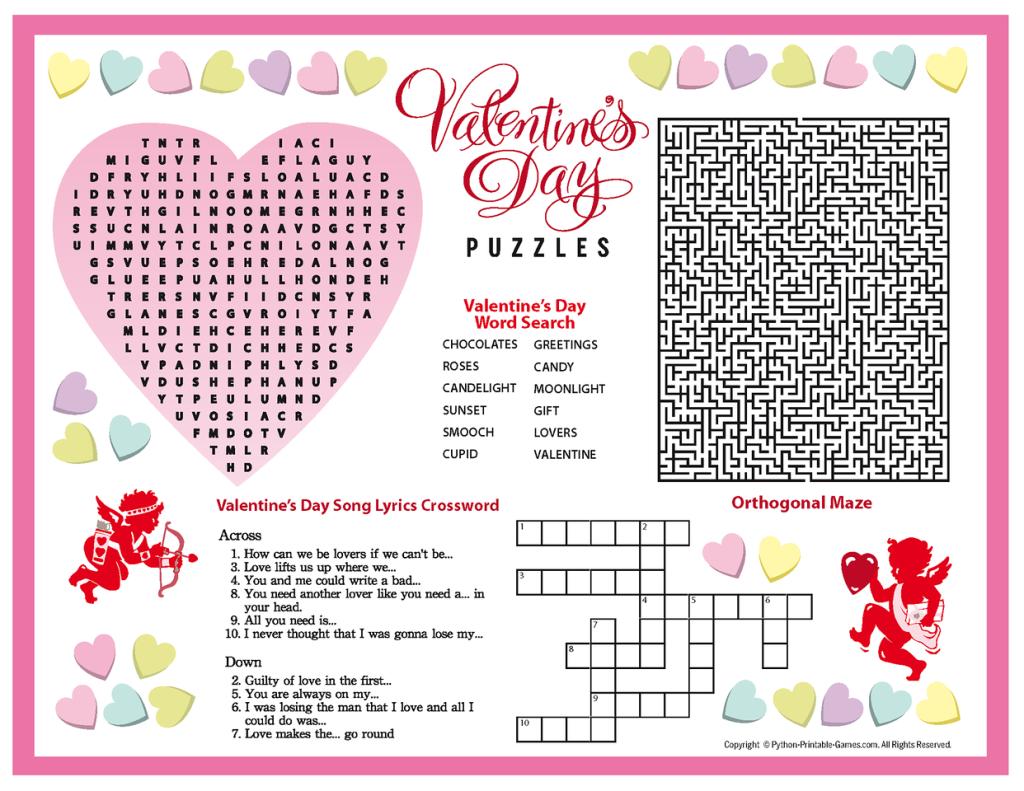 Free Printable Valentine's Day Puzzles   School Stuff   Valentines - Printable Valentine Puzzle