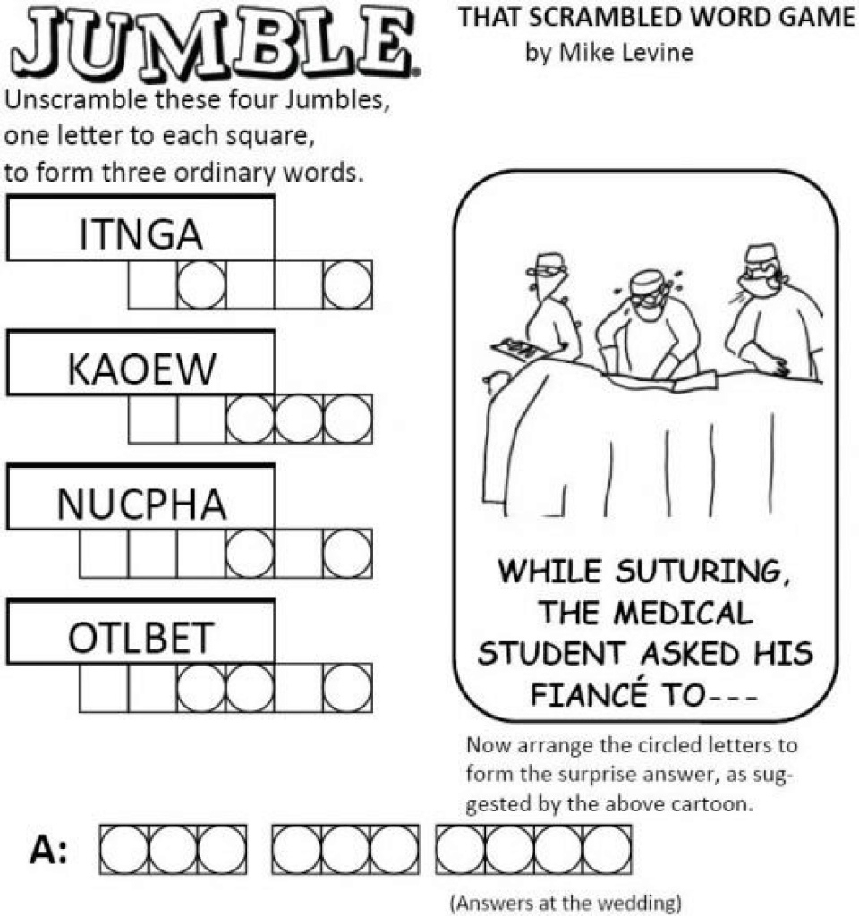 Free Printable Word Jumble Puzzles For Adults Printable Word Jumble - Printable Jumble Puzzles