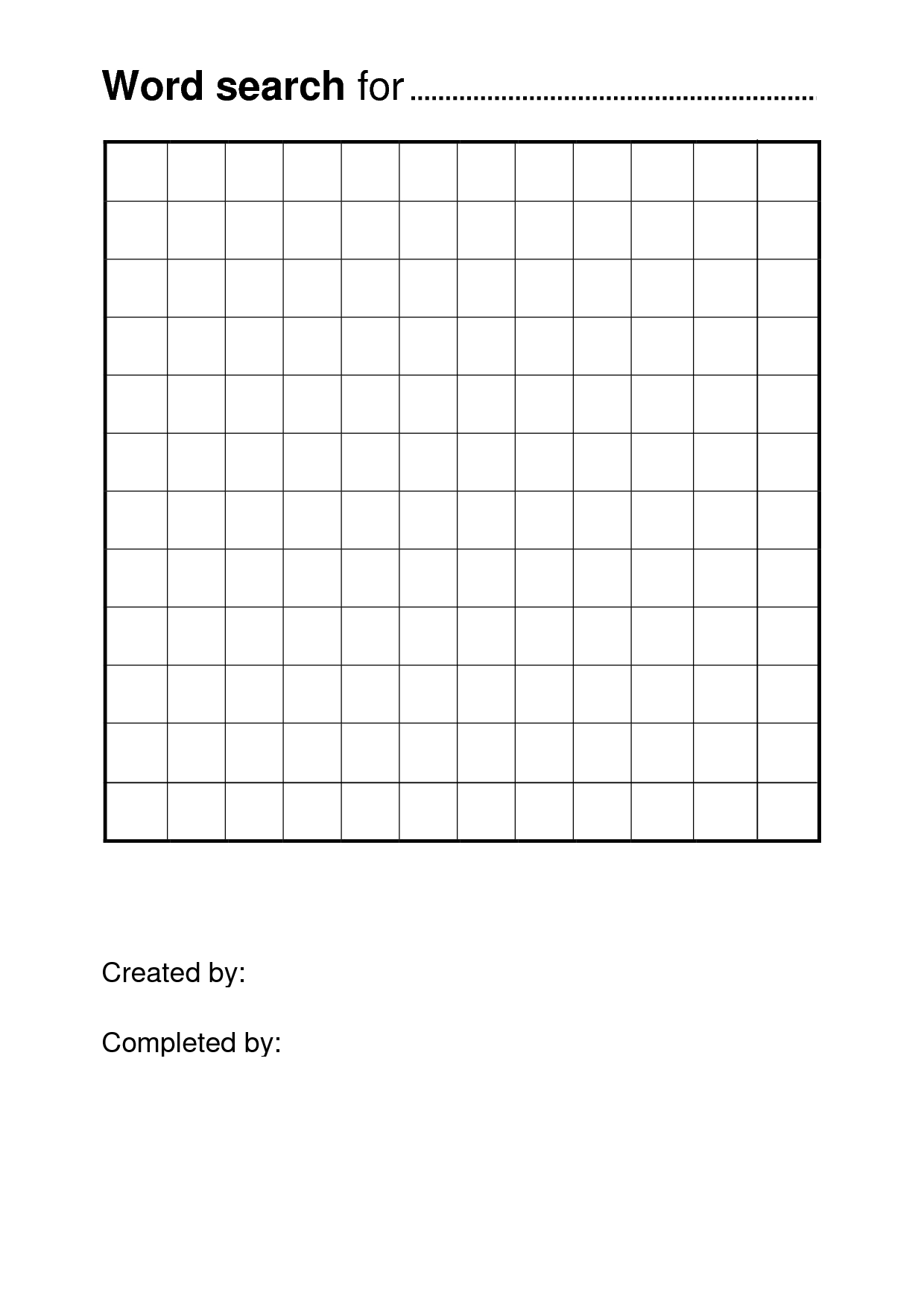 Free Printable Word Search Puzzle Templates | Pisanie | Free - Blank Crossword Puzzle Printable
