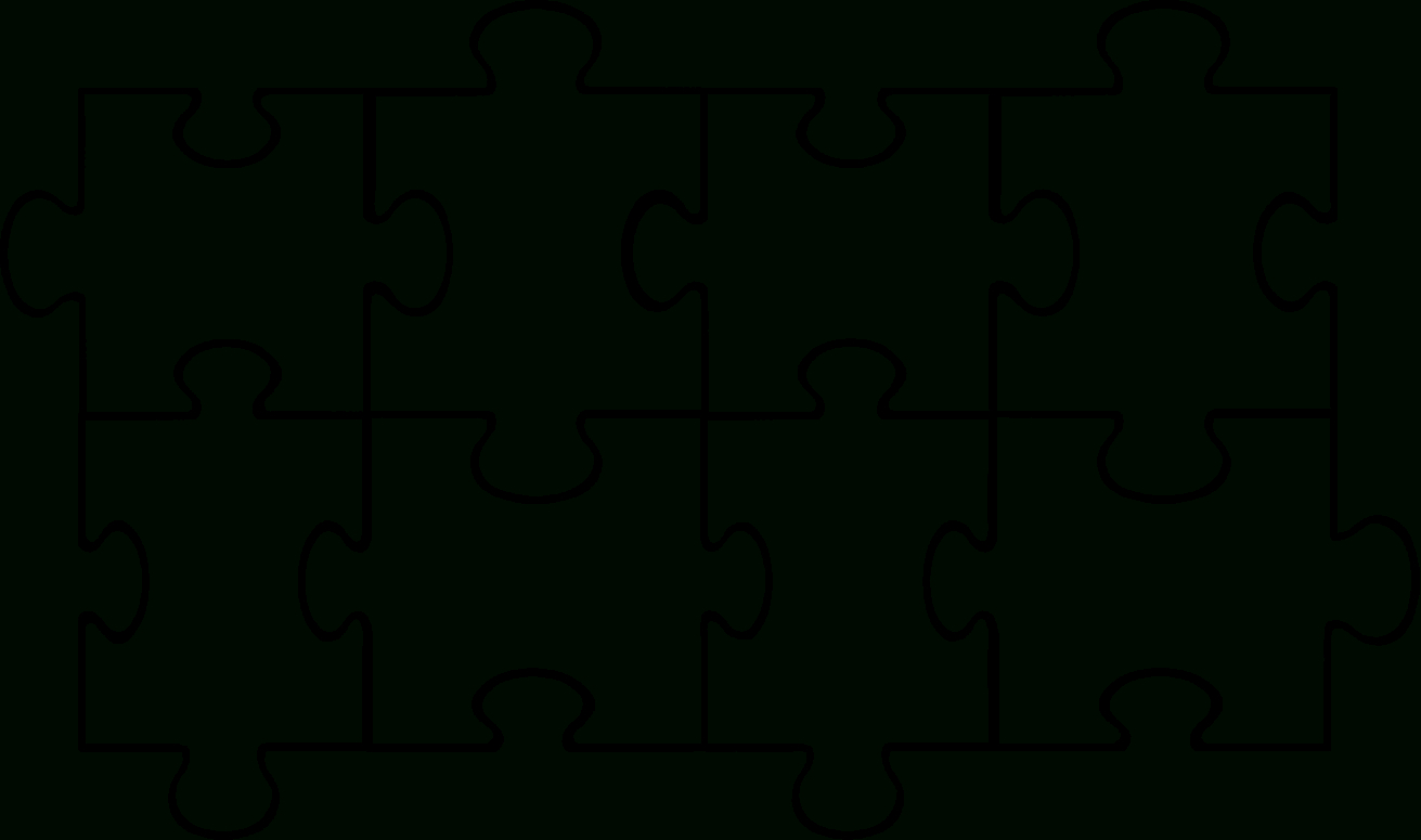 Free Puzzle Pieces Template, Download Free Clip Art, Free Clip Art - Printable Blank Jigsaw Puzzle Outline