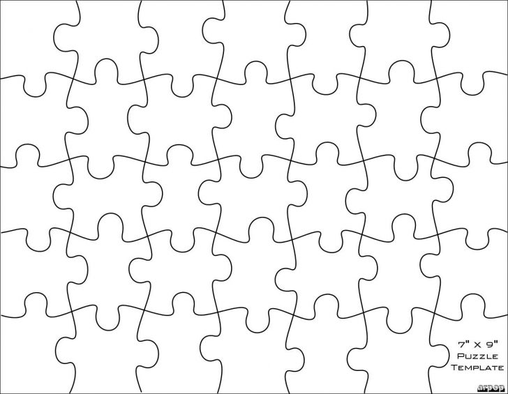 Printable Jigsaw Puzzles Template