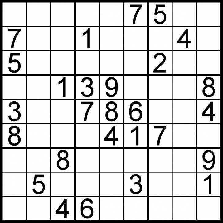Printable Sudoku Puzzle Easy