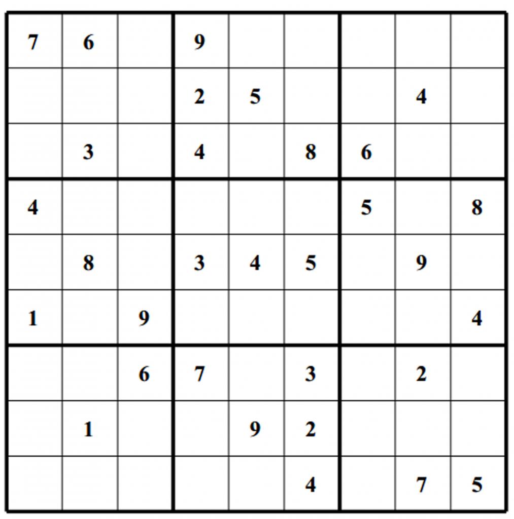 Free Sudoku Puzzles | Enjoy Daily Free Sudoku Puzzles From Walapie - Printable Sudoku Puzzle Grids
