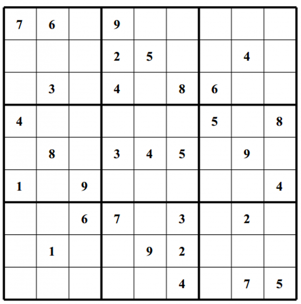 Free Sudoku Puzzles | Enjoy Daily Free Sudoku Puzzles From Walapie - Printable Sudoku Puzzles 4 Per Page