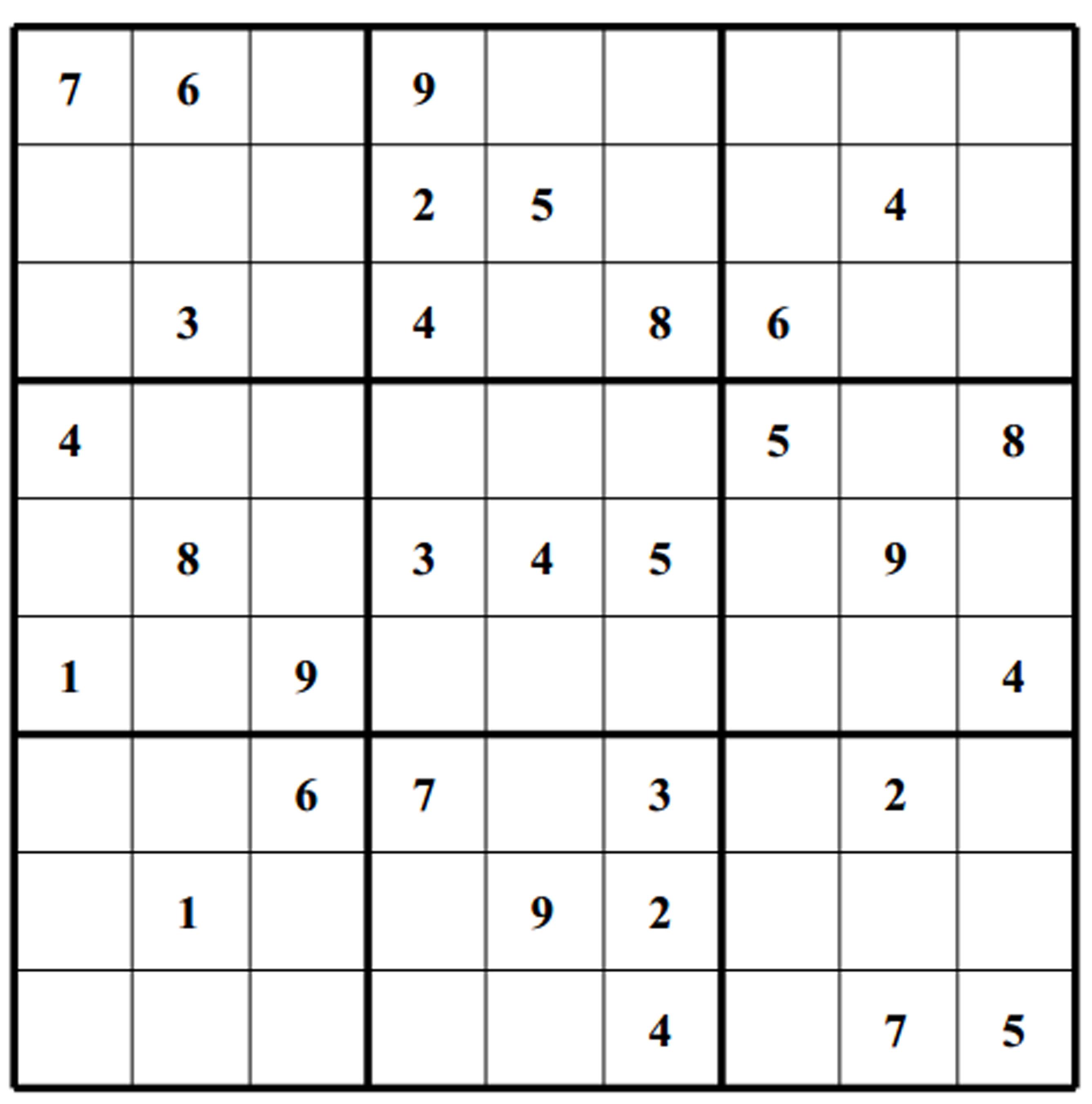 Free Sudoku Puzzles | Enjoy Daily Free Sudoku Puzzles From Walapie - Sudoku X Printable Puzzles