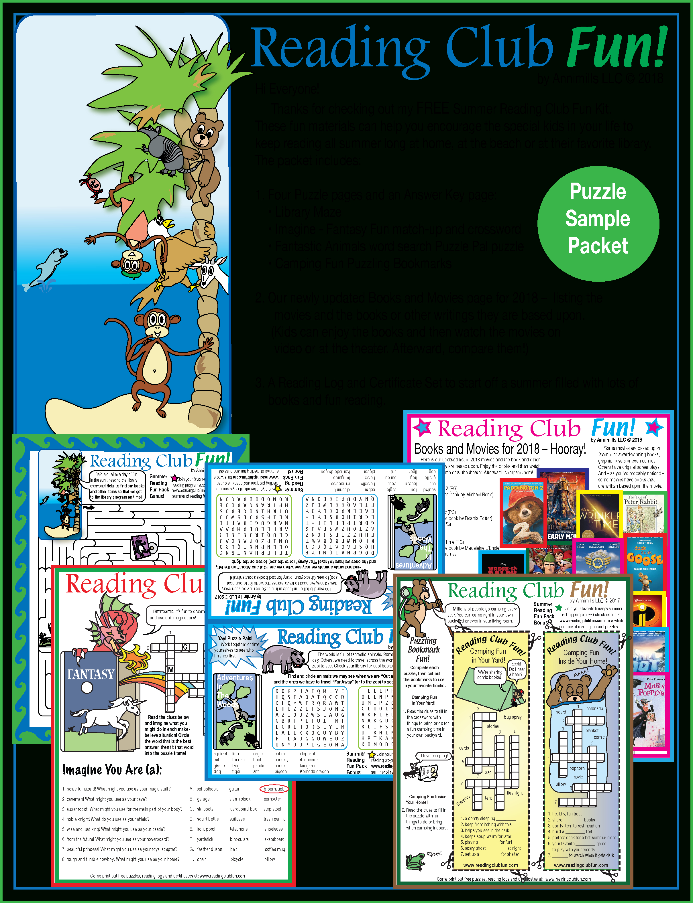 Free Summer Reading Fun – Puzzle Packet | Printable Puzzles For June - Printable Puzzle Packets