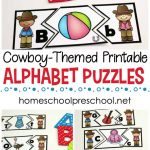 Free Wild West Themed Alphabet Puzzle Printables   Printable Matching Puzzle