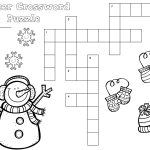 Free Winter Crossword Puzzle For Primary Students | Snow, Penguins   Printable Crossword Puzzles Winter