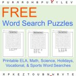 Free Word Search Printables   These Printable Word Searches For Kids   Printable Ela Puzzles