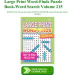 Free~Download Large Print Word Finds Puzzle Book Word Search Volume   Printable Puzzle Book Pdf