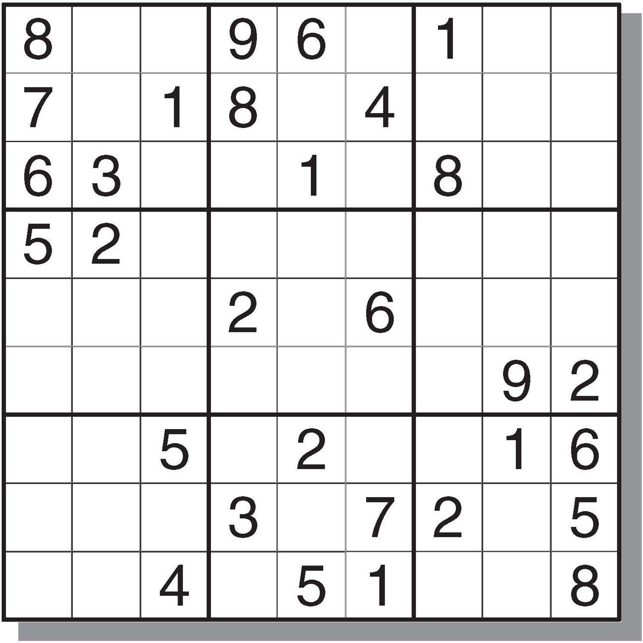 Printable Sudoku Puzzles Krazydad | Printable Crossword ...