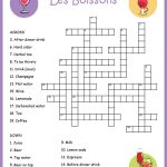 French Food Crossword Puzzle: Les Boissons | Lessons | Learn French   Printable French Puzzle
