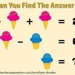 Fun Math Puzzles   Printable Quiz Puzzles