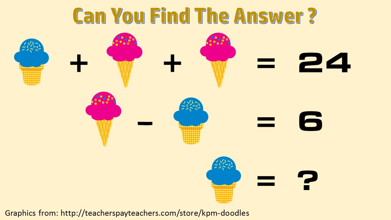 Fun Math Puzzles - Printable Quiz Puzzles
