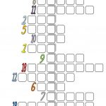 Fun With Numbers (Crossword) Worksheet   Free Esl Printable   Printable Crossword Esl