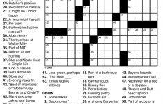 General Knowledge Easy Crossword Puzzles | Penaime – Free Printable – Free Printable General Knowledge Crossword Puzzles