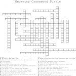 Geometry Crossword Puzzle   Yapis.sticken.co   Geometry Vocabulary Crossword Puzzle Printable