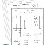German/english Crossword Puzzles Tiere/animals | German Words   Printable German Crosswords