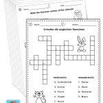 German/english Crossword Puzzles Tiere/animals | German Words   Zoo Crossword Puzzle Printable