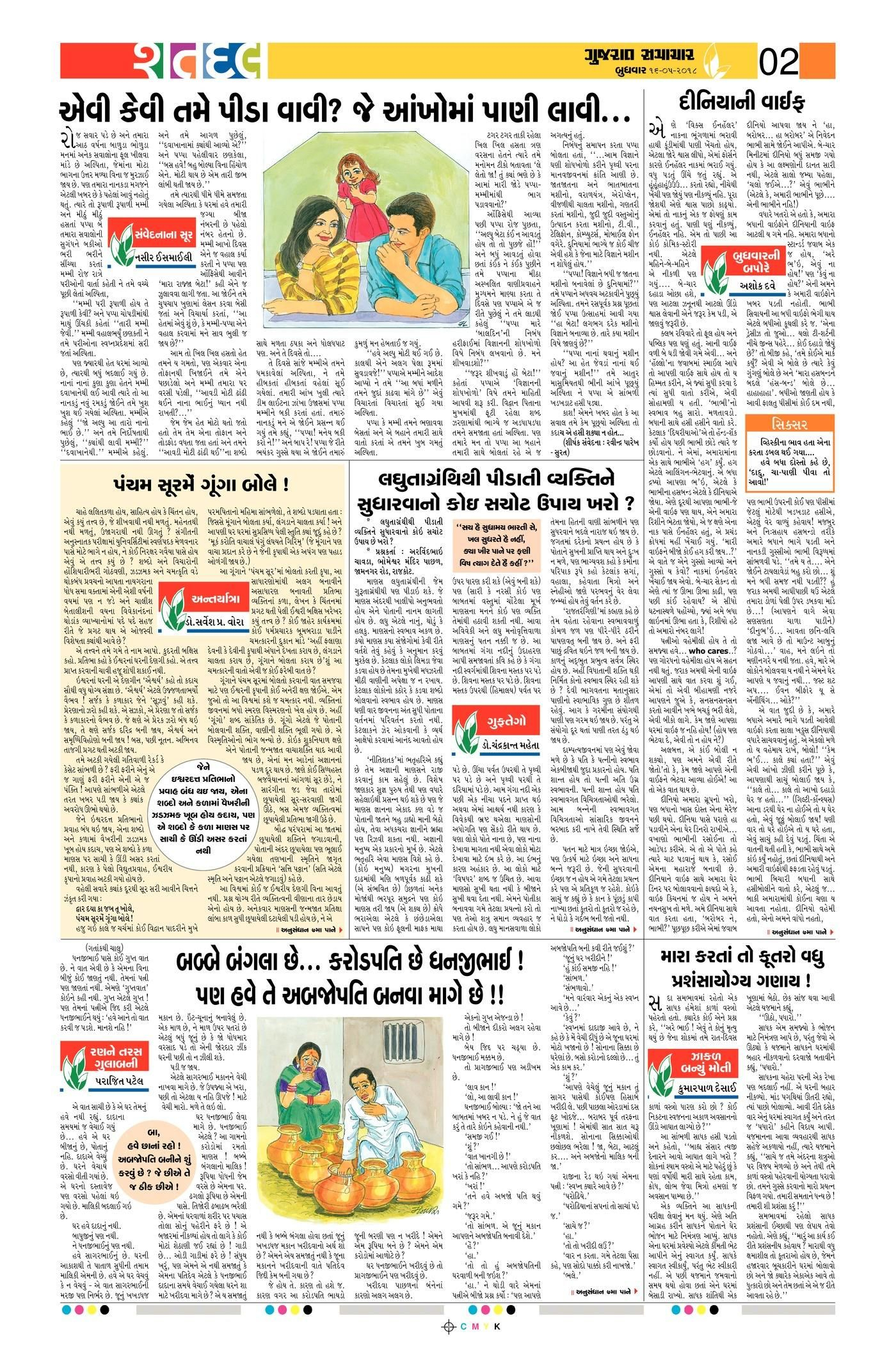 Gujarat Samachar Epaper Shatdal Edition | Icse | Bullet Journal - Printable Gujarati Crossword Puzzles