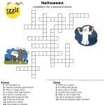 Halloween Crossword   Hard #happyhalloween 💀👻🎃 | Classroom   Hard Halloween Crossword Puzzles Printable