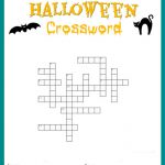 Halloween Crossword Puzzle Free Printable   Printable Halloween Crossword Puzzles Word Searches