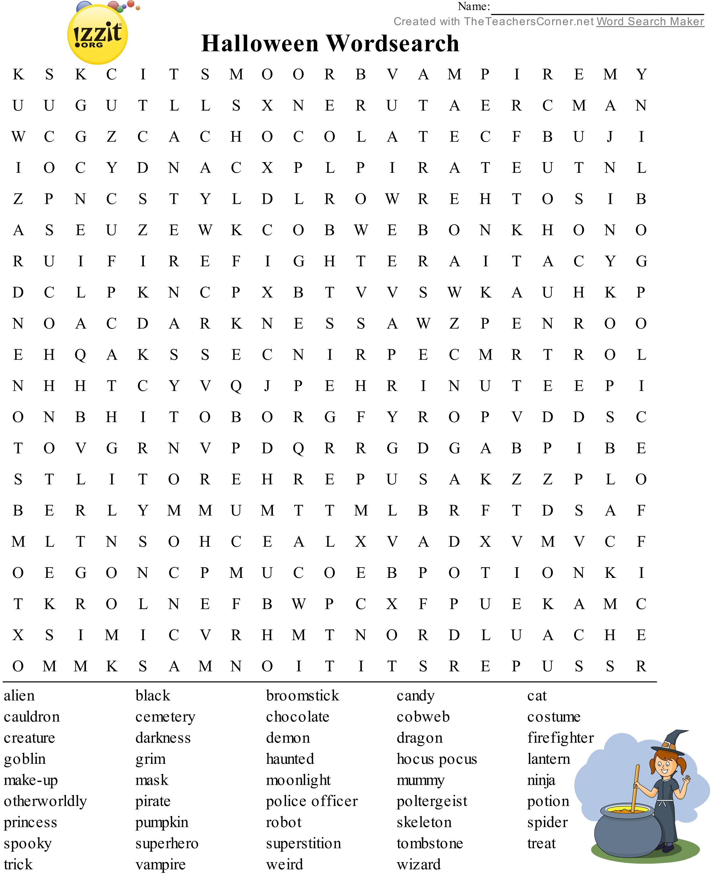 Halloween Word Search - Hard #happyhalloween 💀👻🎃 | Classroom - Printable Grey's Anatomy Crossword Puzzles