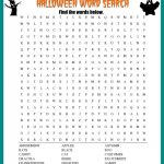 Halloween Word Search Printable Worksheet   Printable Halloween Crossword Puzzles Word Searches