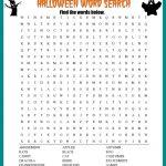 Halloween Word Search Printable Worksheet   Printable Halloween Crossword Puzzles Word Searches