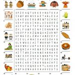 Happy Thanksgiving   Wordsearch Puzzle Worksheet   Free Esl   Printable Thanksgiving Puzzle