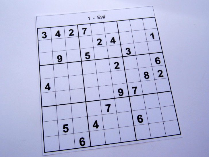 Printable Sudoku Puzzle Hard