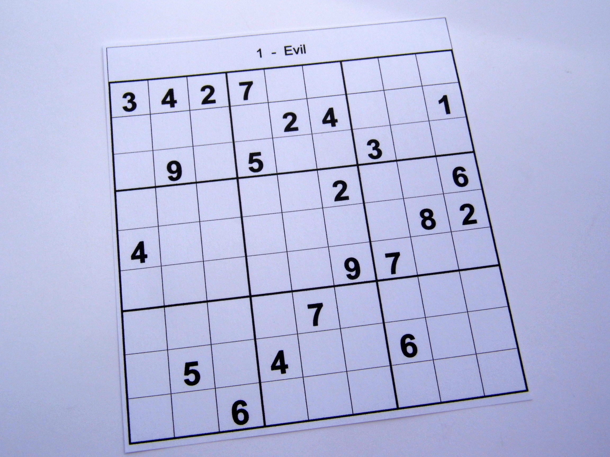 Hard Printable Sudoku Puzzles 2 Per Page – Book 1 – Free Sudoku Puzzles - Printable Sudoku Puzzle Hard