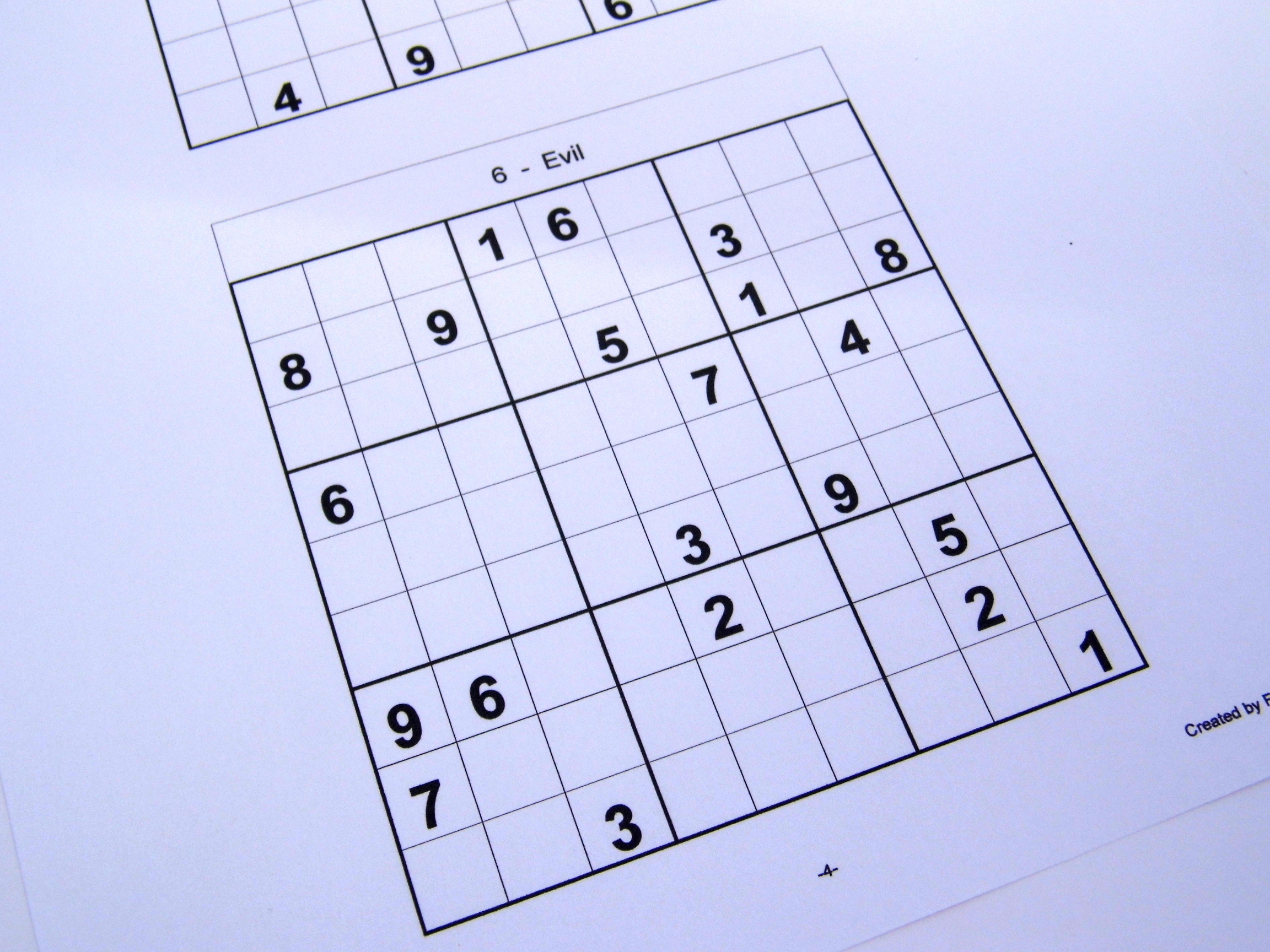 Hard Printable Sudoku Puzzles 6 Per Page – Book 1 – Free Sudoku Puzzles - Printable Sudoku Puzzles One Per Page