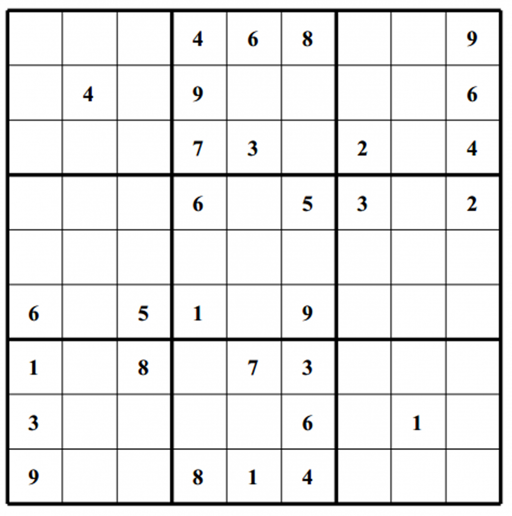 picture about Printable Sudoku Medium identify Sudoku Printable No cost, Medium, Printable Sudoku Puzzle #1