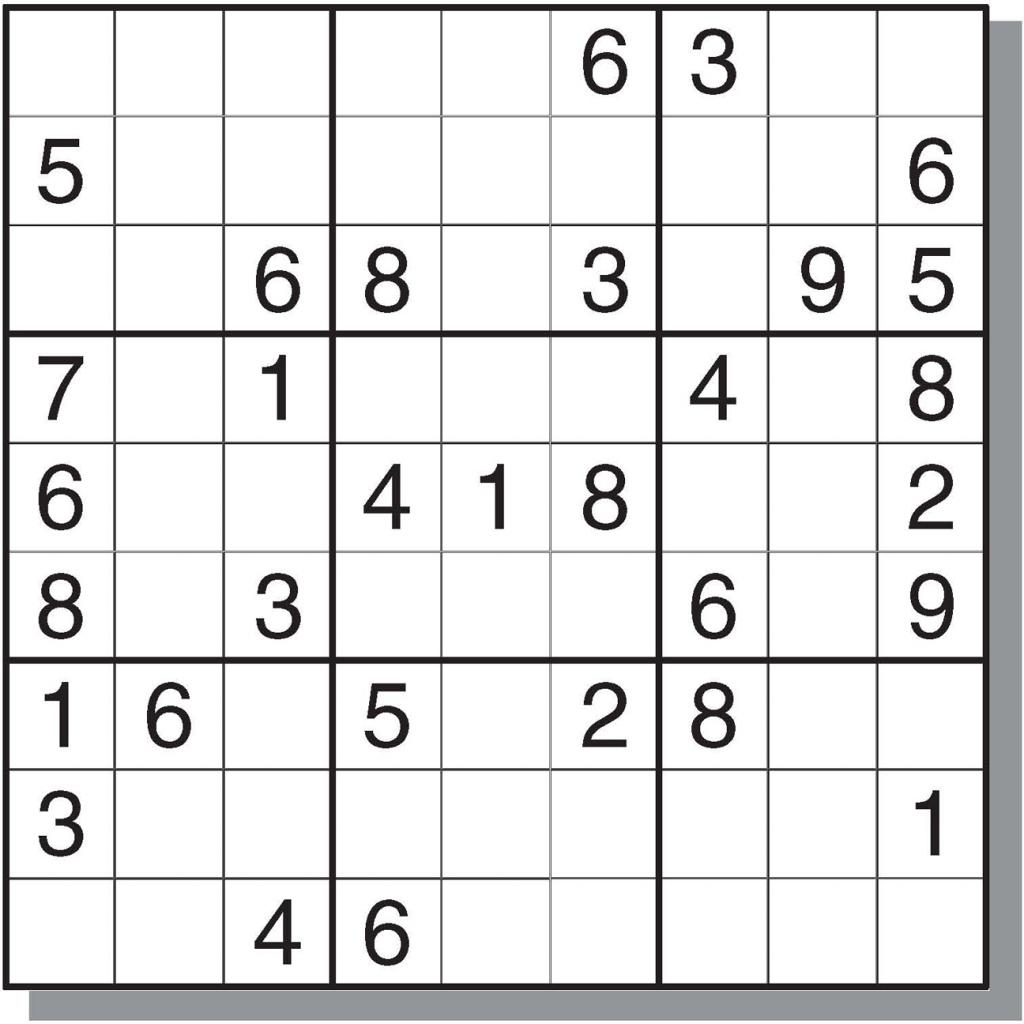 Hard Sudoku Printable - Canas.bergdorfbib.co | Printable Sudoku - Printable Sudoku Puzzles Online