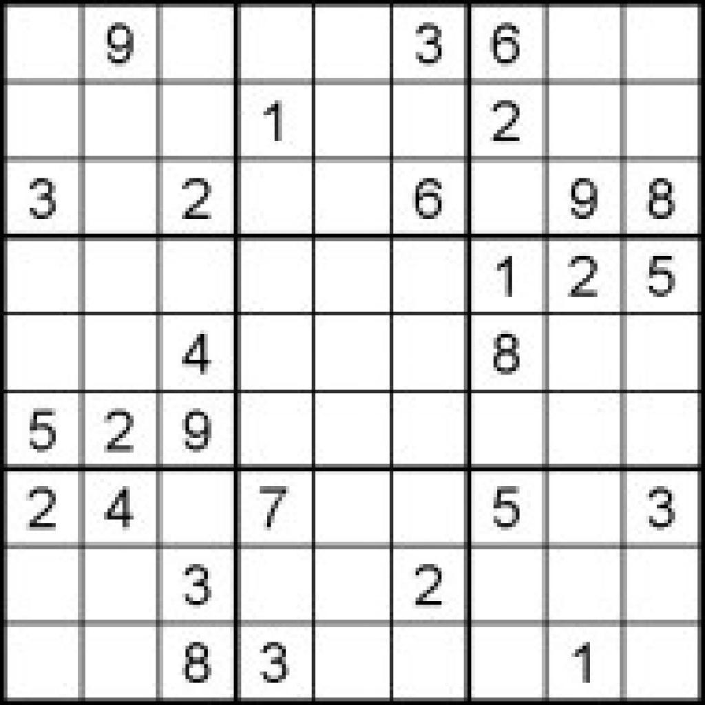 Hard Sudoku Puzzles For Kids - Free Printable Worksheets Pertaining - Printable Sudoku Puzzle Site