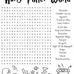 Harrypotter Free Word Search Puzzle And Planning Ideas For Universal   Free Printable Universal Crossword