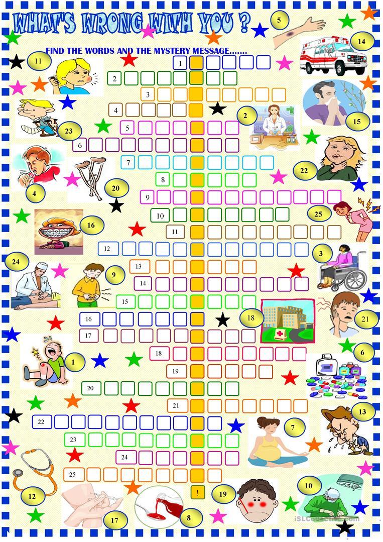 Health :crossword Puzzle Worksheet - Free Esl Printable Worksheets - Printable Health Crossword Puzzles