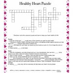 Healthy Heart Puzzle – Food And Health Communications   Printable Nutrition Crossword Puzzle