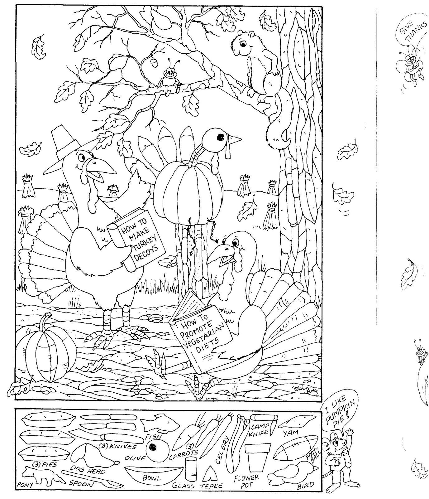 Hidden Pictures Publishing: Coloring Page And Hidden Picture Puzzle - Printable Puzzle Coloring Pages
