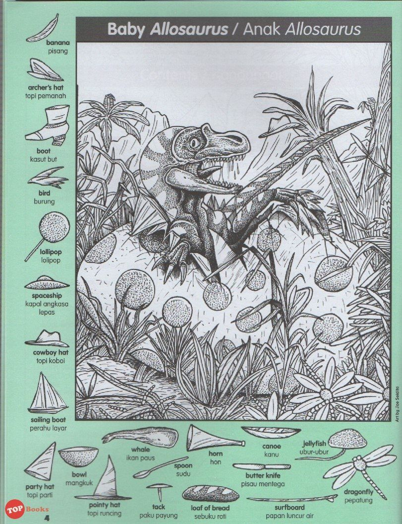 Highlights Hidden Pictures Dinosaur Puzzles Favourite Buku 2 - Printable Dinosaur Puzzles
