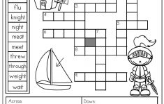 Homophones: Crossword Puzzle- Read The Clues And Use The Word Bank – 4Th Grade Crossword Puzzles Printable
