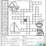Homophones: Crossword Puzzle  Read The Clues And Use The Word Bank   Printable Compound Word Crossword Puzzle